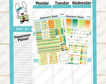 St Patrick Day Mini Weekly Kit --- Planner Stickers --- Will fit in your Mini HP --- MHP10