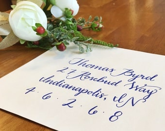 Custom Calligraphy Wedding Invitations, Bridal Shower, Baby Shower, Bachelorette Party, Graduation Announcements, Christmas Cards, Budget
