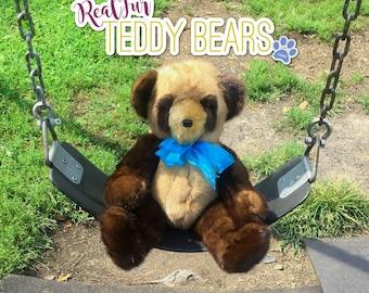 Mink Multi-Brown Teddy Bear by RealFurTeddyBears - FREE SHIPPING