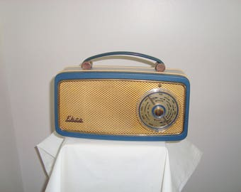 SALE! 1961 Blue Ekco PT378 MW/LW Portable Battery Transistor Radio/ Made in England