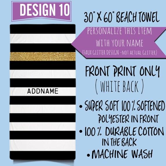 Personalized Beach Towel, Custom Stripes Beach Towel,Custom towel, Custom Towels,Custom Name Beach Towels, Personalized Gift, Choose A Color