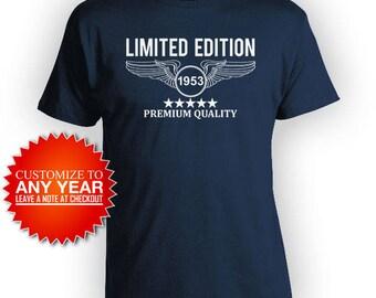 Funny Birthday T Shirt 65th Birthday Gift Ideas For Him Birthday Present Bday Shirt Custom Premium Quality 1953 Birthday Mens Tee - BG456