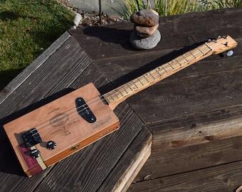 Cigar box guitar, electric, 3 string, cbg
