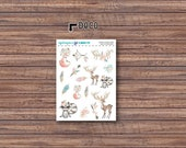Boho Woodland Deco Stickers | ECLP | Happy Planner | Recollections Planner