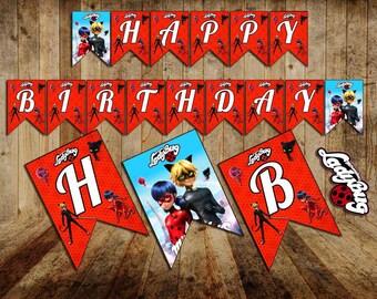 Ladybug Banner, Ladybug, Ladybug Birthday, Ladybug Party, Miraculous Ladybug Birthday, Miraculous Ladybug, birthday banner, first birthday