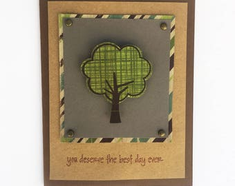 Handmade Card - You Deserve The Best Day Ever