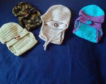 Diaper cover set, Crochet Diaper Set,Baby Set,Crochet Infant Hat Set, Diaper Cover,