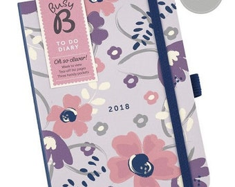 A6 Planner 2018, TO DO DIARY 2018, Agenda 2018
