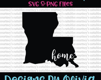 louisiana home svg/ louisiana svg/ home svg/ louisiana home png