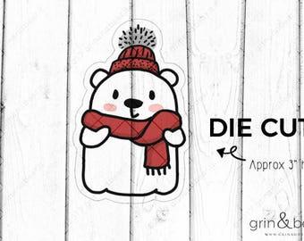 Wintery Barry! - Barry the Bear Diecut