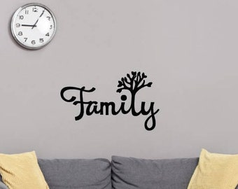 Family Matte Removable Vinyl Wall Decal