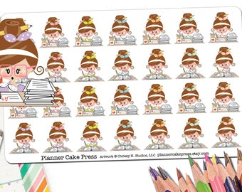 Grading Stickers | Grading Papers | Grade Stickers | Lesson Plan Sticker | Lesson Planner Stickers | Teacher Planner Stickers Fits ECLP More