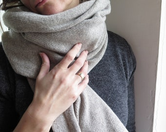 Cashmere scarf, kaschmir schal, cashmere snood, mens snood, infinity scarf,merino scarf, Mens scarf, Women scarf, Knit shawl, Pure cashmere