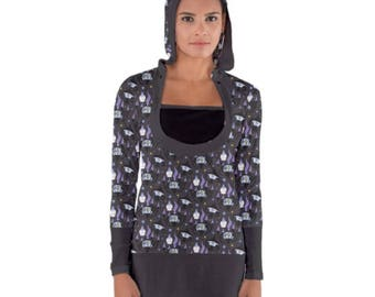 Chandelure Hoodie Tunic - Hooded Tunic Pokemon Evolutions Top Litwick Tunic Lampent Hoodie Nerdy Dress Geeky Dress Bodycon Tunic