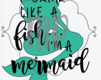 Of course I drink like a fish Mermaid Vinyl Decal