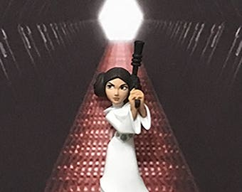 Star Wars Episode IV Inspired Princess Leia 3-D Effect Framed Wall Art