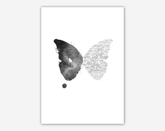 Printable Butterfly Print. Open your wings.