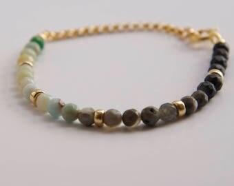 Amazonite Bead Bracelet-Natural Bead Bracelet- Ombre Bracelet- Minimalist Bracelet-Gift for Her- Layering Bracelet- Stackable Bracelet