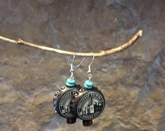 Bottlecap Dangle Earrings