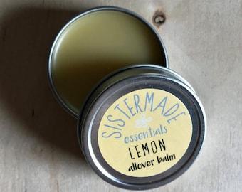 Lemon 1 oz. Allover Balm - Hand,Foot and Lip Balm, All Natural Salve, Moisturizer