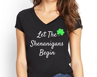 St patricks day shirt women, st pattys day, shenanigans, shamrock tank, shenanigans shirt, shamrock tank top, four leaf clover shirt