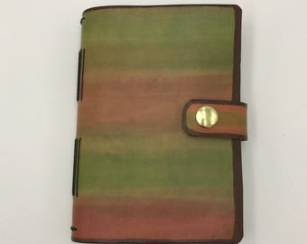 Rustic Two-Toned Leather Journal; Longstich Binding