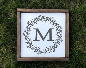 Wood Sign | Monogram |  Farmhouse Sign |
