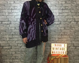 Vintage Purple Cardigan Size M