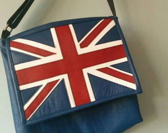 Union Jack Messenger Bag,  Flag Bag, England, Great Britain, United Kingdom, 1867Shop, Handmade