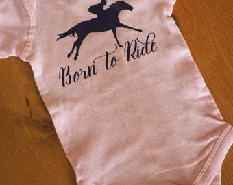 Born to Ride Baby Body Suit