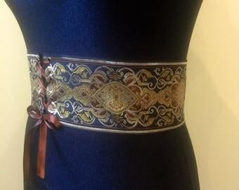 Fantasy wide belt; elven belt; medieval dress