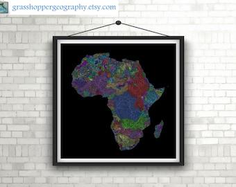 River Map Etsy - Printable world river map