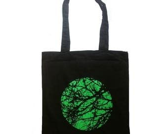 Sale - Imperfect Print - screen printed tote bag, shopping bag, cotton tote, tree bag, tree, nature