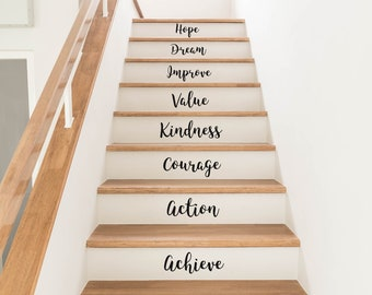 Staircase Word Decals