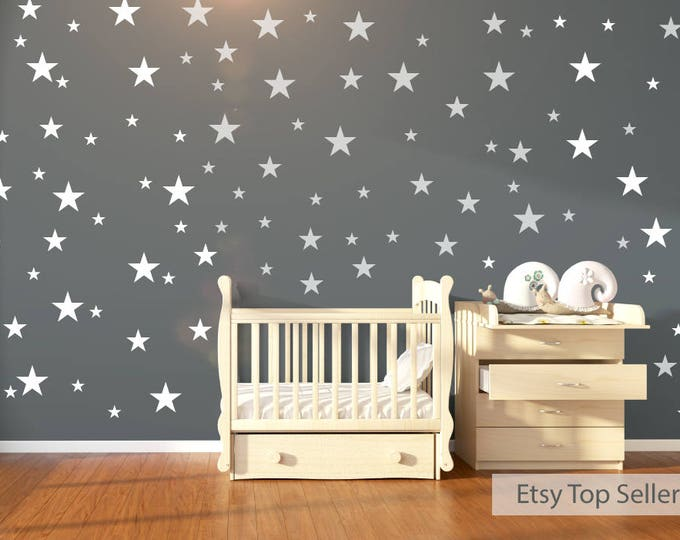 Featured listing image: 120 White Stars Wall Stickers