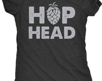 Hop Head Homebrew Craft Beer Women's Tri-Blend T-Shirt - Plus sizes available!