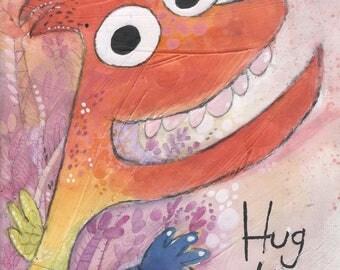 Hug Hug - Digital Print