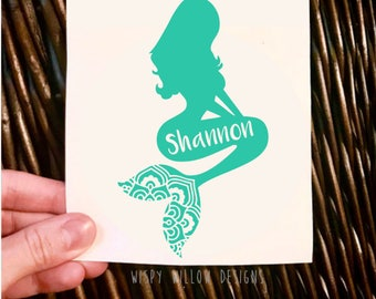 Mermaid Decal Etsy - Mermaid custom vinyl decals for car