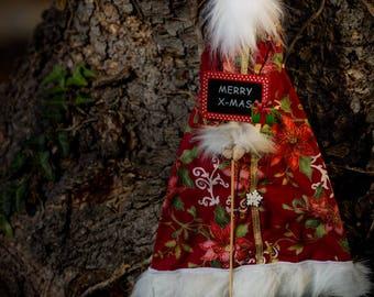 Handmade Santa Doll / Christmas Doll / Soft Doll / Santa Claus / Cute / Tilda / RED