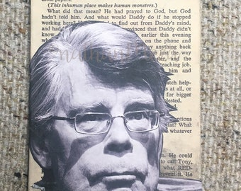 Stephen King Collage on page of The Shining
