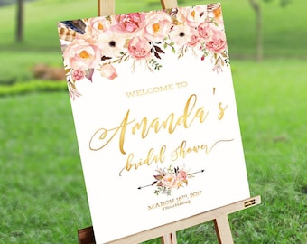 Bridal Brunch Sign, Bridal Tea Sign, Bridal Shower Welcome Sign, Bridal Shower sign, Bridal Shower decoration - US_BSb3