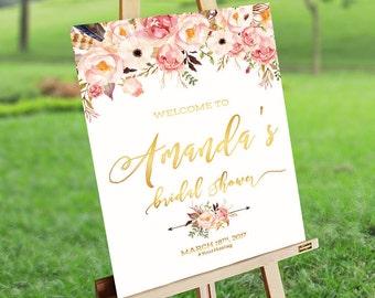 Bridal Brunch Sign, Bridal Tea Sign, Bridal Shower Welcome Sign, Bridal Shower sign, Bridal Shower decoration - US_BSb3