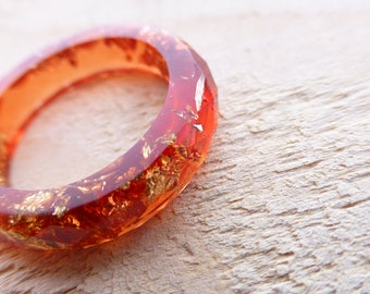 eco resin ring gold leaf flakes