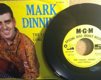 Mark Dinning The Lovin Touch b/w Come Back To Me Vinyl DJ Promo Picture Sleeve 45 rpm Record