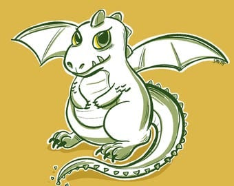 Dragon Baby 8x8 Print Children's Room Art