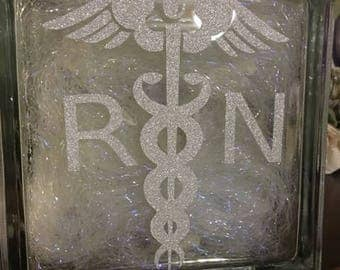 RN Lighted Glass Block (personalisation available)