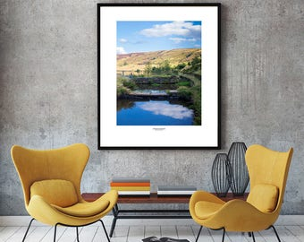 Haslingden Reservoir, Lancashire UK photo print