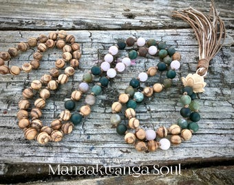 Summer mala beads / 108mala beads/ wooden mala necklace / 108 wood malas / mala necklace 108 / japa mala / reiki mala / 108 prayer mala