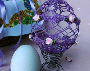 Lace Easter Egg, Violet Easter Egg