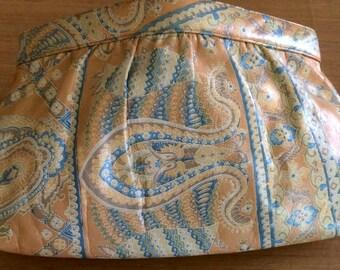 Vintage MORRIS MOSKOWITZ Paisley Print Clutch/Shoulder Bag/Purse